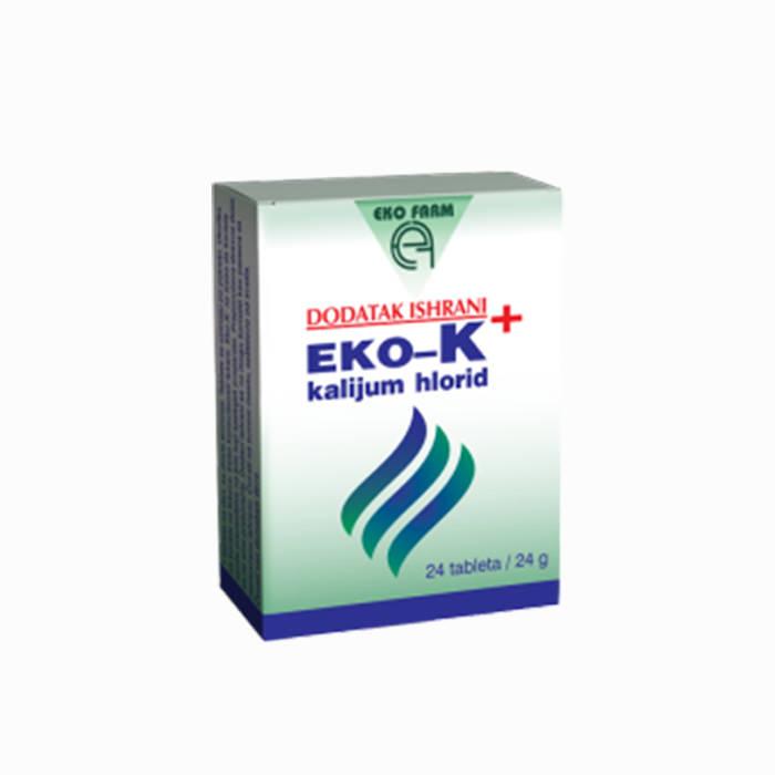 Eko-K kalijum hlorid 24 tablete
