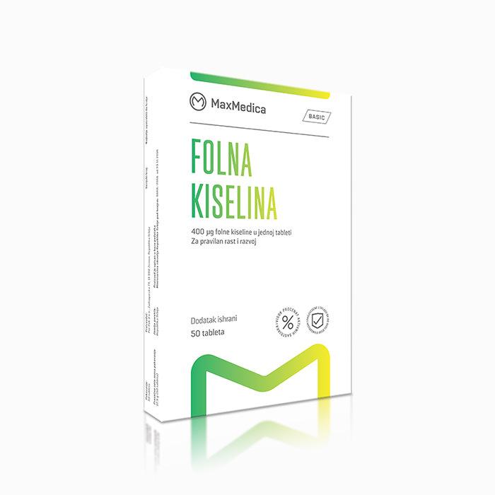 MaxMedica Folna Kiselina 400mcg 50 tableta