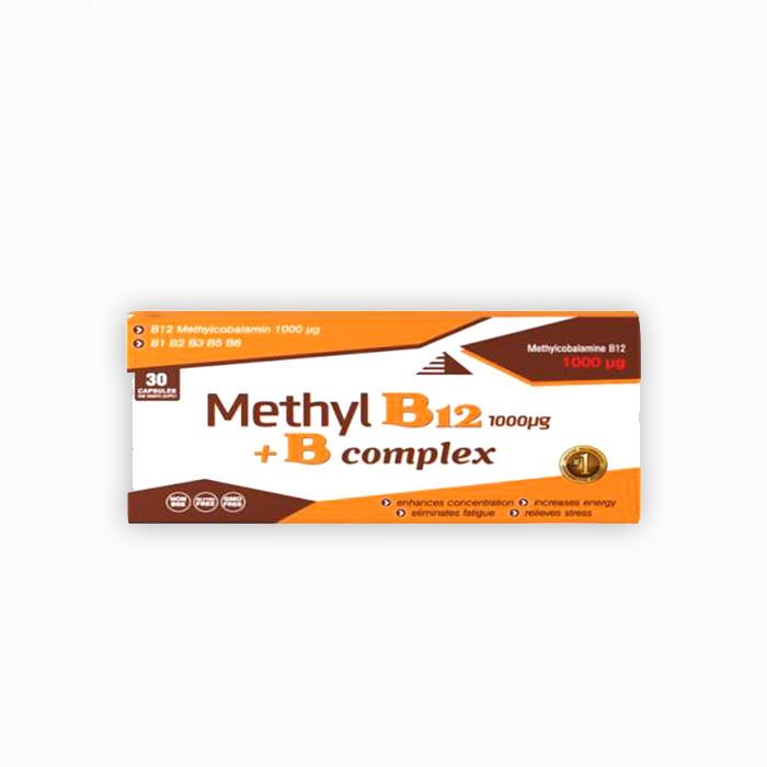 Methyl B12 + B complex 30 kapsula