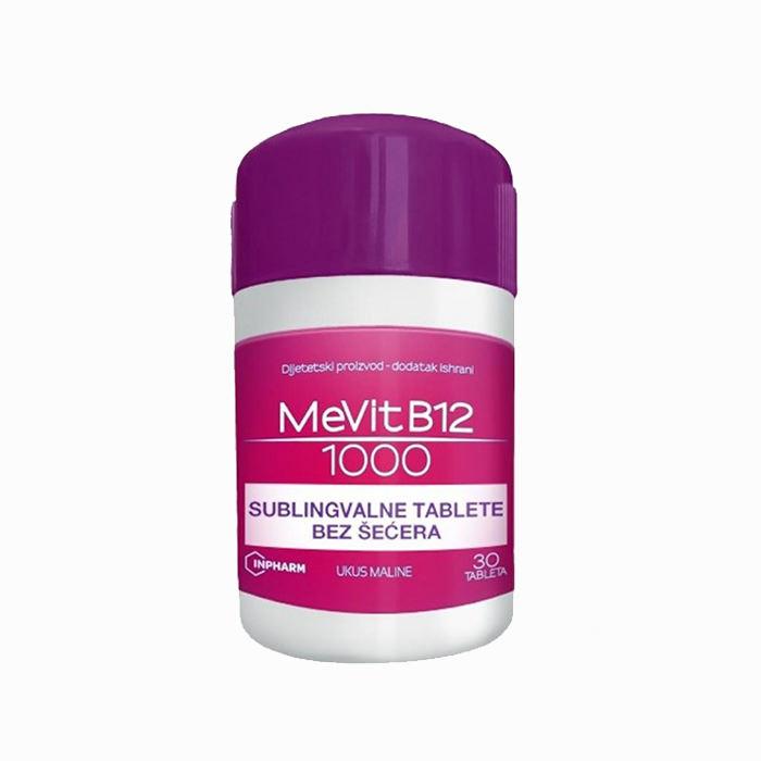 Mevit B12 1000 sublingvalne tablete bez šećera