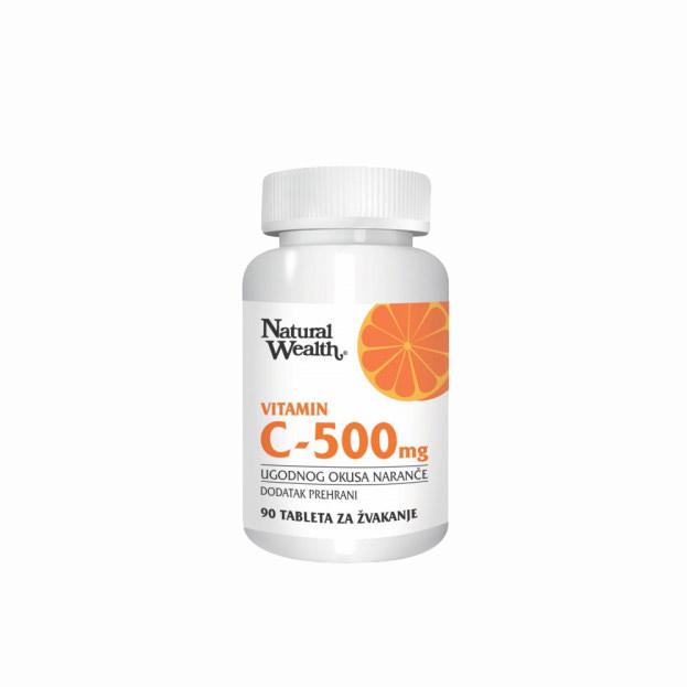 Natural Wealth Vitamin C 500mg 90 tableta za žvakanje