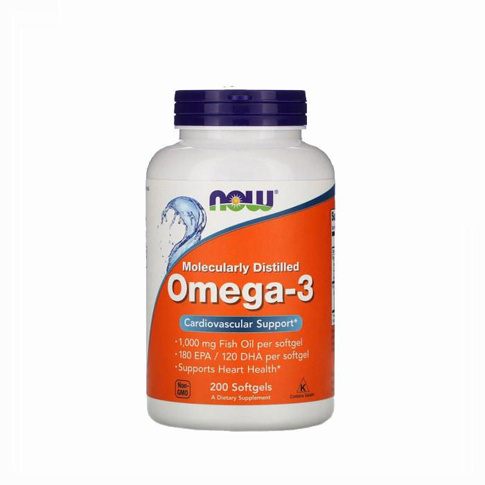 Now - Omega 3 1000mg, 200 kapsula